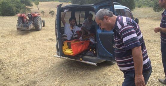Demirci'de traktör kazası 1 yaralı