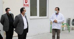 Akhisar Belediyesi'nden koronavirüs tespit merkezine konteyner desteği