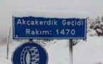 Demirci'de kar manzaraları