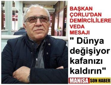 Başkan Çorlu veda mesajı yayınladı