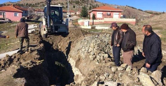 Büyükşehir, Azizbey'de Alt Yapıya Kazmayı Vurdu