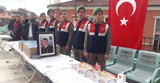 Demirci 'de Afrin şehidi için mevlid okutuldu