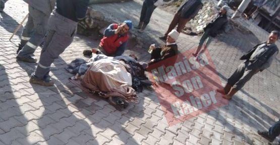 Demirci 'de iş kazası! Direkten düşen işçi yaralandı