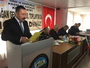 Demirci Esnaf Kefalet Kooperatifi 2017 yılı olağan genel kurulunu yaptı