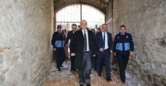 Gölmarmara Halime Hatun Camisine  Büyükşehir'in eli değdi