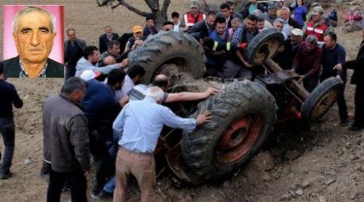 Gördes'te traktör kazası 1 kişi öldü