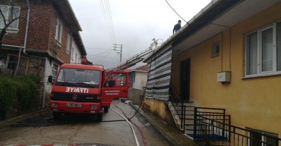 Güneşli Mahallesinde yangın ucuz atlatıldı
