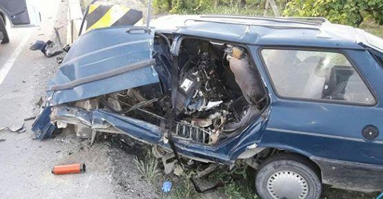 Hasta götürüp dönüş yolunda kaza geçirdi