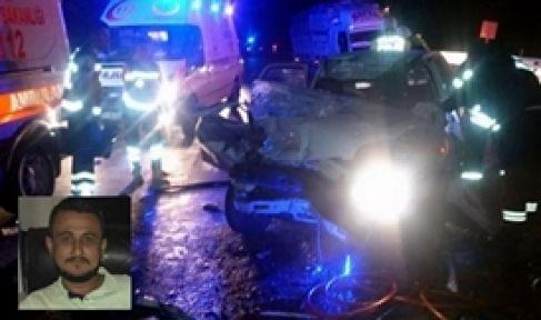 Kamyona arkadan çarptı 1 ölü 4 yaralı