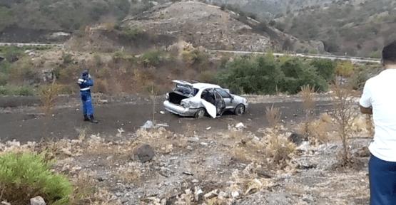 Köprübaşı ilçesinde feci kaza 1 ölü 3 yaralı