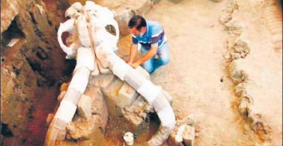 Mamut fosili  tam 14 bin yıllık