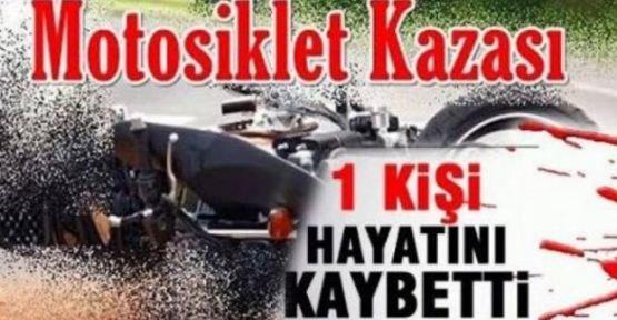 Motosiklet bariyere çarptı 1 ölü