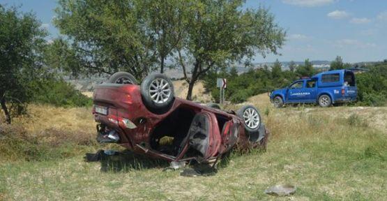 Selendi'de kaza 3'ü çocuk 5 kişi yaralandı