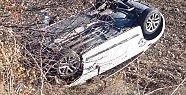 Demirci-Salihli yolunda kaza 1 kişi yaralandı