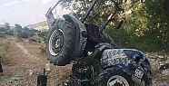 Traktör ortadan yarıldı 1 kişi ağır...