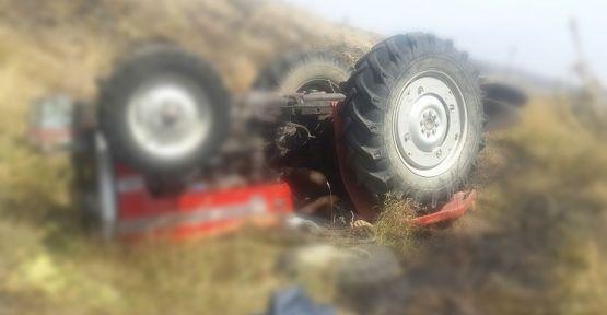 Turgutlu'da traktör yuvarlandı 5 yaralı
