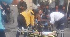 Balkondan düşen kadın yaralandı