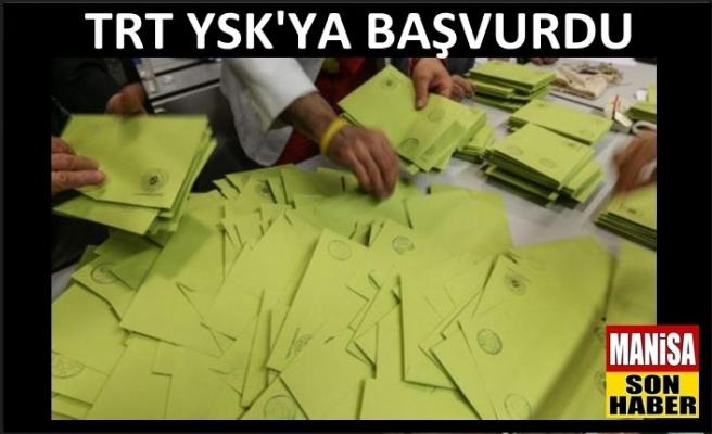 TRT oy sayımını canlı yayınlamak istiyor
