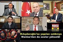Kılıçdaroğlu'na yapılan saldırıya Manisa'dan da sesler yükseldi