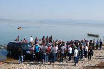 Gölmarmara gölünde gezi acı bitti 2 kişi öldü