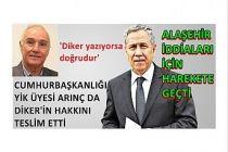 Cumhurbaşkanlığı YİK üyesi Arınç da Diker'in hakkını teslim etti