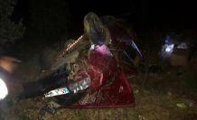 Demirci yolunda feci kaza 4 yaralı