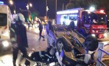 Kavşakta kaza 3 yaralı