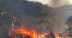 Iklıkçı Mahallesinde yangın felaketi