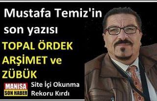 Mustafa Temiz'in son yazısı okunma rekoru kırdı