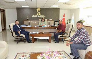 Küpeler Muhtarı Genel Müdür Başaran'la görüştü