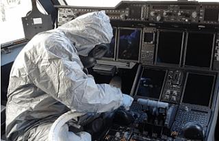 Vuhan'dan Gelen O Uçak İçin Corona Virüs Temizliği