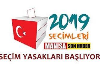 Seçim yasakları Perşembe günü başlayacak