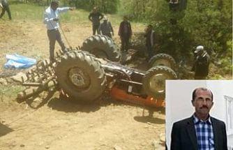Traktör kazasında can veren çiftçi gözyaşlarıyla toprağa verildi