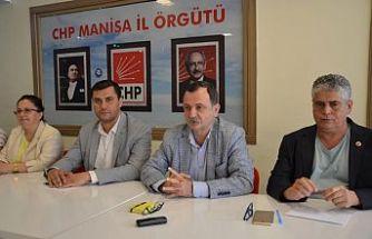 CHP Manisa'da  su zammına tepki gösterdi