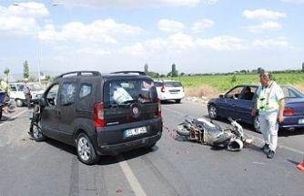 Zincirleme kaza 1 kişi ağır yaralı