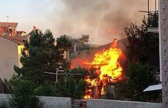 Kasımfakı Mahallesinde çıkan yangın korkuttu