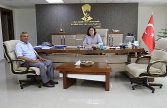 Tekeler Muhtarı Genel Müdür Başaran'ı Ziyaret Etti