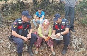 Demircili kayıp kadını Jandarma buldu
