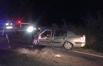 Gördes-Demirci yolunda feci kaza 2'si ağır 6 yaralı