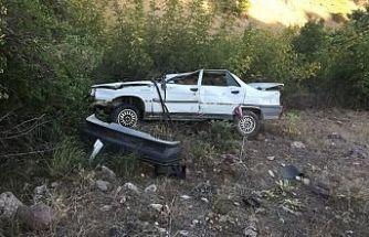 Virajı alamadı yoldan çıktı 4 kişi yaralandı