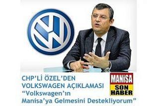 Volkswagen'ın Manisa'ya Gelmesini Destekliyorum