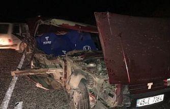 Gördes-Akhisar yolunda kaza 1 kişi yaralandı