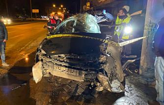 Feci kaza 1'i ağır 2 kişi yaralı