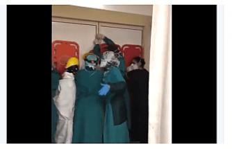 Korkunç Manzara! Hastanede saldırılara karşı barikat kurdular