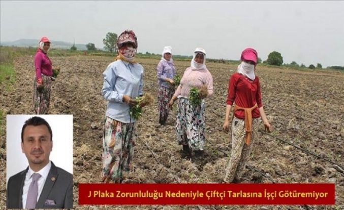 J Plaka Zorunluluğu Nedeniyle Çiftçi Tarlasına İşçi Götüremiyor