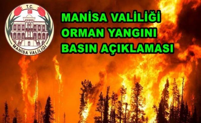 Son Dakika! Manisa Valiliği Orman Yangını Açıklaması