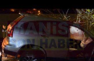 Demirci-Simav Çevre Yolu trafik kazası 1 kişi yaralandı
